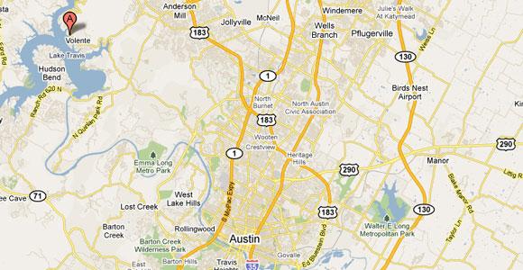 lake travis texas map Location Map And Directions To Vip Marina Near Austin Tx lake travis texas map